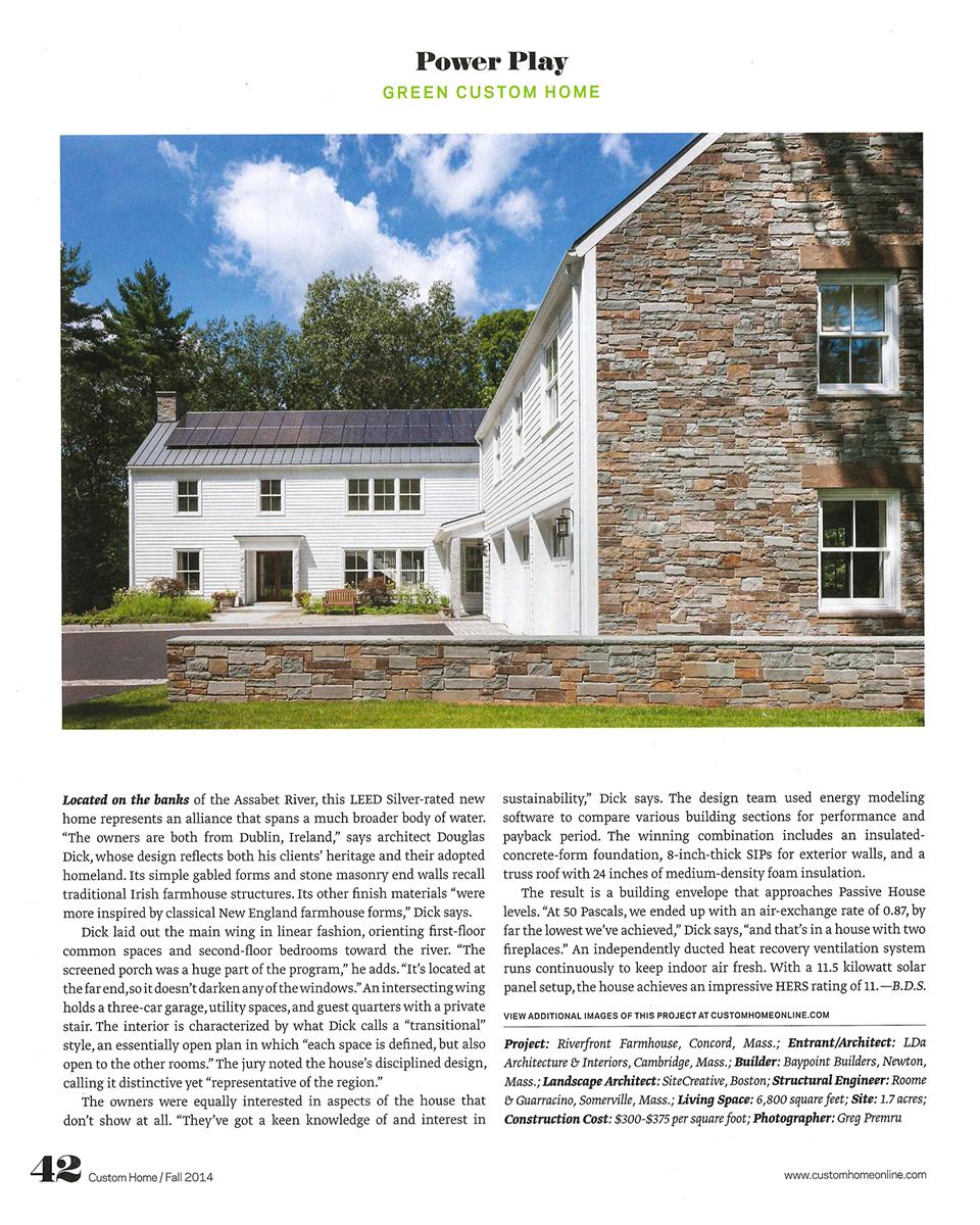 Custom Home Design Awards | LDa Architecture and Interiors