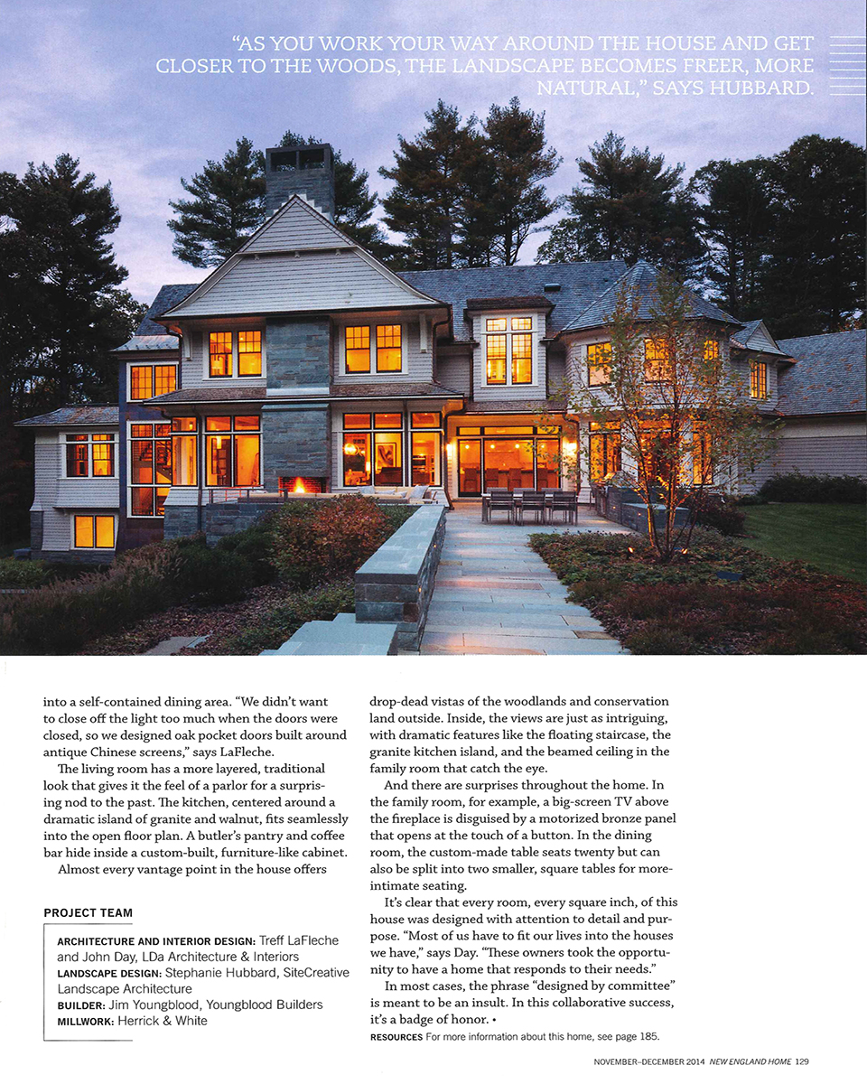Chestnut woods lda architecture and interiors - Chestnut Woods Lda Architecture And Interiors In This Issue Of New England Home Our Chestnut