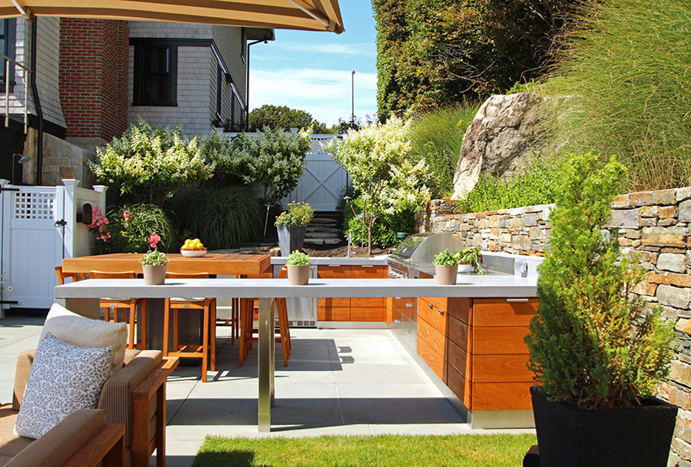 U Shaped Outdoor Kitchen Cool Inspiring Seamless