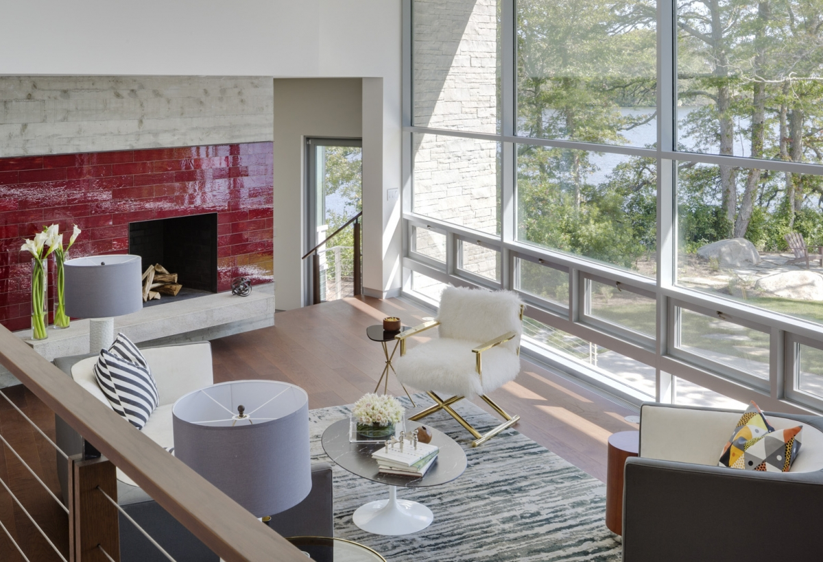 Oyster pond lda architecture and interiors for Living room 507